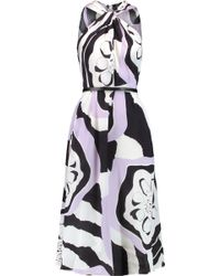 Raoul - Terra Belted Printed Silk Jumpsuit - Lyst