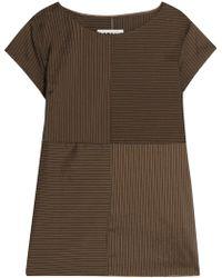 MM6 by Maison Martin Margiela - Striped Stretch-shell Top - Lyst