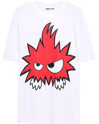 McQ Printed Cotton-jersey T-shirt White
