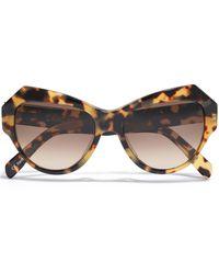 Zanzan Zazou Butterfly-frame Tortoiseshell Acetate Sunglasses Animal Print - Brown