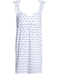 Three J Nyc Bow-detailed Fil Coupé Cotton Nightdress White