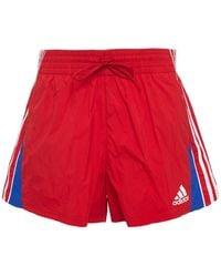 adidas Printed Shell Shorts Red