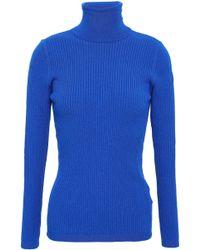 Fusalp Ancelle Ribbed-knit Turtleneck Sweater Cobalt Blue