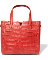 Vince - Croc-effect And Smooth Leather Tote - Lyst