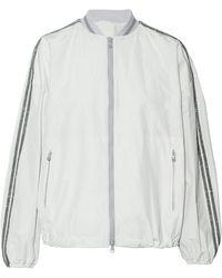 Brunello Cucinelli - Bead-embellished Shell Bomber Jacket - Lyst