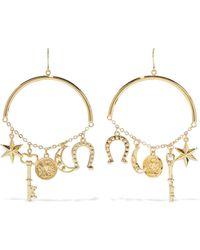 Noir Jewelry - Gold-tone Earrings Gold - Lyst