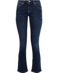 Anine Bing - High-rise Bootcut Jeans Dark Denim - Lyst