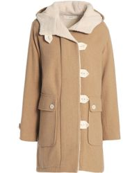 Vanessa Bruno Athé - Woman Faux Shearling-lined Wool-blend Coat Sand - Lyst