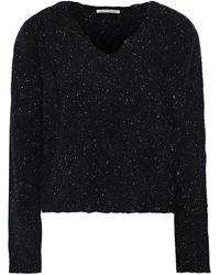 Autumn Cashmere Distressed Donegal Cashmere Sweater Black