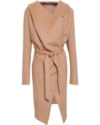 SOIA & KYO Wool-blend Felt Hooded Coat Blush - Multicolour