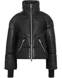 W118 by Walter Baker Edwina Tiger-print Leather Jacket - Black