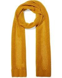 Zimmermann Unbridled Open-knit Mohair-blend Scarf - Yellow