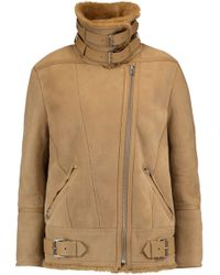 IRO - Buckled Shearling Jacket - Lyst