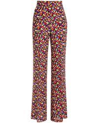 Etro Printed Silk Crepe De Chine Wide-leg Pants - Multicolor