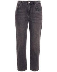 Claudie Pierlot Pamela Cropped Mid-rise Straight-leg Jeans - Grey