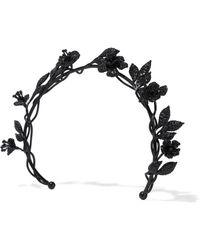 Valentino - Crystal-embellished Oxidized Metal Headband - Lyst