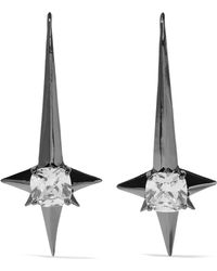 Noir Jewelry - Naos Gunmetal-tone Crystal Earrings - Lyst