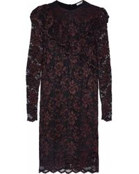 Ganni - Flynn Ruffled Lace Mini Dress - Lyst