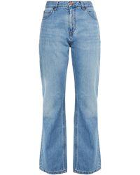 Victoria, Victoria Beckham High-rise Bootcut Jeans - Blue