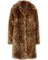 J.Crew - Leopard-print Faux Fur Coat - Lyst