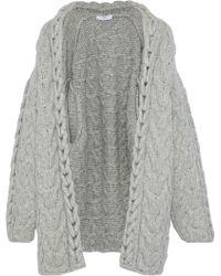 IRO - Novyi Cable-knit Alpaca-blend Cardigan - Lyst