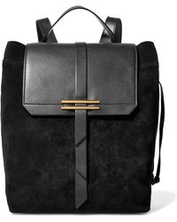 Iris & Ink - Jane Leather-paneled Nubuck Backpack - Lyst