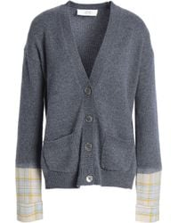 Vanessa Bruno Athé - Panelled Checked Wool-blend Cardigan - Lyst