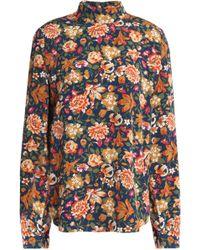 Vanessa Bruno - Floral-print Silk Top - Lyst