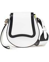 Emilio Pucci Printed Leather Shoulder Bag - White