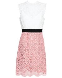 Sandro Crochet And Lace Dress White