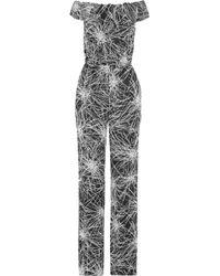 Diane von Furstenberg - Off-the-shoulder Printed Crepe Jumpsuit - Lyst