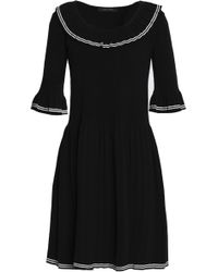 Marc Jacobs - Pleated Stretch-knit Cotton-blend Dress - Lyst
