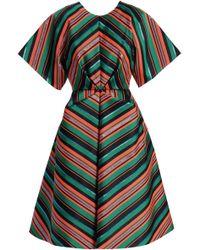 Delpozo - Striped Jacquard Dress - Lyst