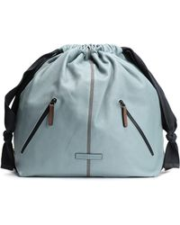 Brunello Cucinelli - Woman Bead-embellished Textured-leather Backpack Sky Blue - Lyst