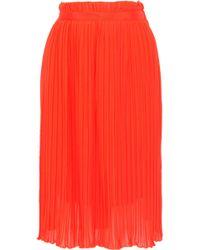 Baum und Pferdgarten - Sakurako Pleated Georgette Skirt Bright Orange - Lyst