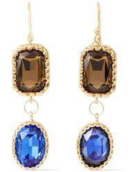 Rosantica Goldfarbene Ohrringe Mit Kristallen Größe - Blue