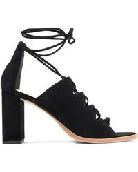 Loeffler Randall   Lace-up Suede Sandals   Lyst