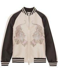 Stella McCartney - Lorinda Embroidered Faille Bomber Jacket - Lyst