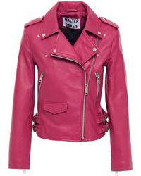 Walter Baker Liz Leather Biker Jacket - Multicolour