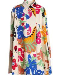 Victoria, Victoria Beckham - Printed Cotton Coat - Lyst