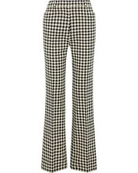 Victoria Beckham Houndstooth Tweed Flared Trousers - Multicolour