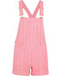 Moschino - Tweed Playsuit - Lyst