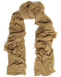 IRO - Woman Fringed Wool And Cashmere-blend Scarf Sage Green - Lyst