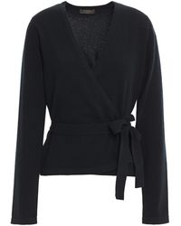 N.Peal Cashmere Cashmere Wrap Sweater Black