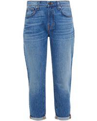 Veronica Beard Benzi Faded Boyfriend Jeans - Blue