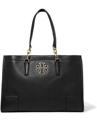 Tory Burch - Britten Textured-leather Tote - Lyst