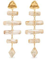 Chan Luu - Plated Swarovski Crystal Earrings - Lyst