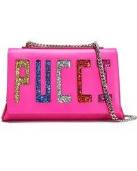 Emilio Pucci - Glittered Leather Shoulder Bag - Lyst
