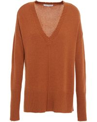 Autumn Cashmere Distressed Knitted Sweater - Braun