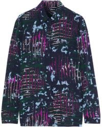 Versace - Printed Silk Crepe De Chine Shirt - Lyst